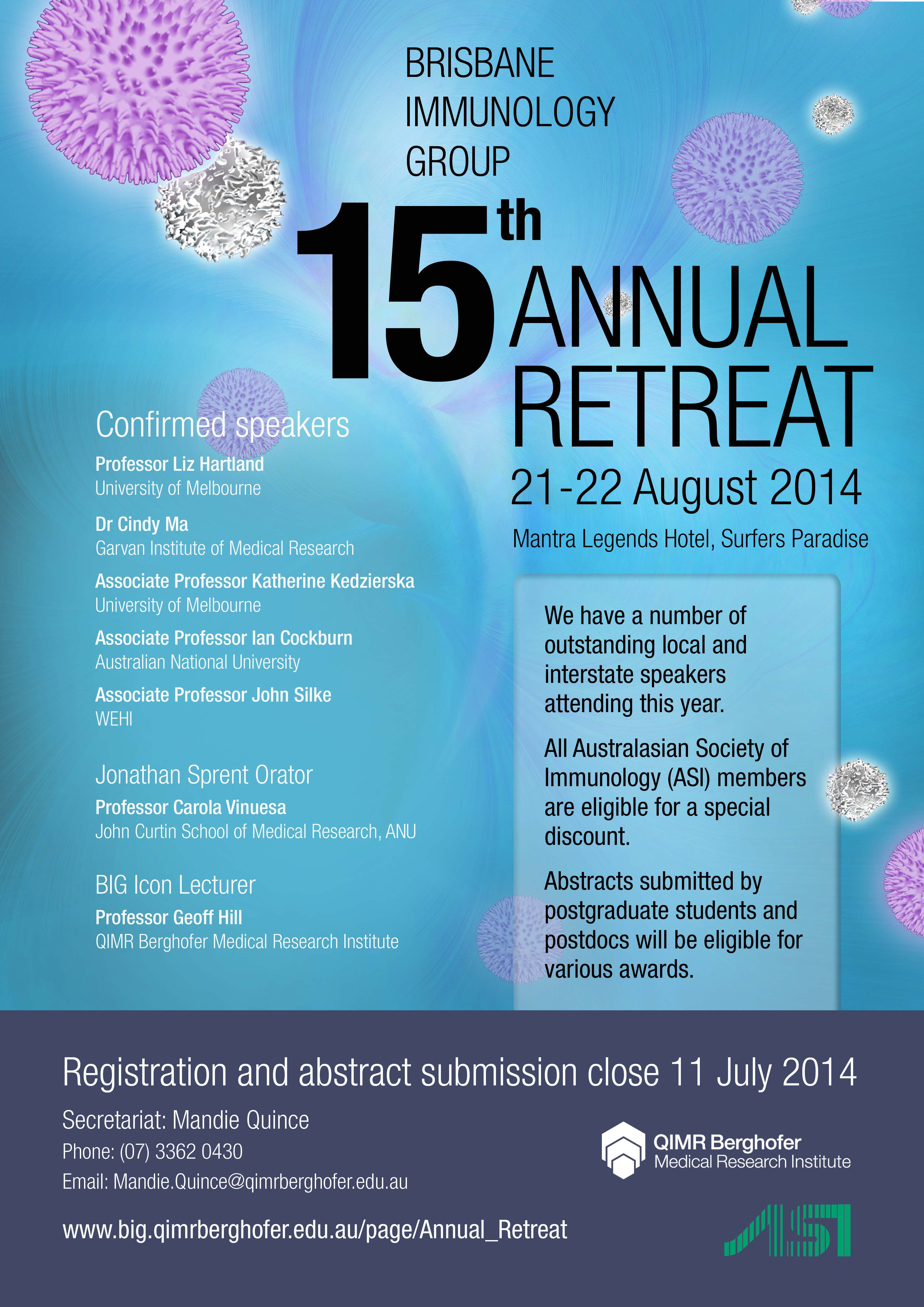 Brisbane Immunology Group 15th Annual Retreat @ Mantra Legends Hotel, Surfers Paradise | Surfers Paradise | Queensland | Australia