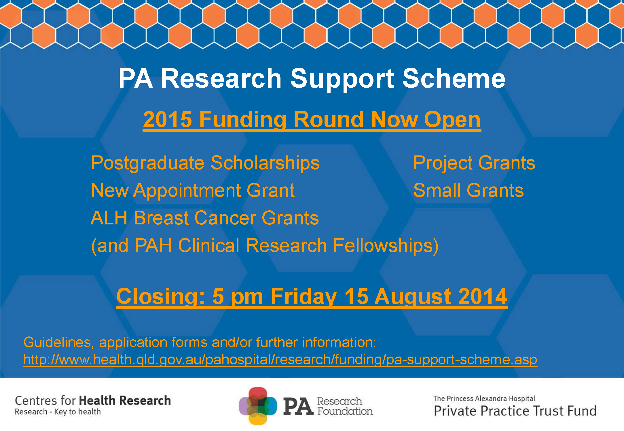 2015 PA Research Support Scheme - submissions now open!